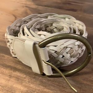 J crew braided belt - Medium cream leather